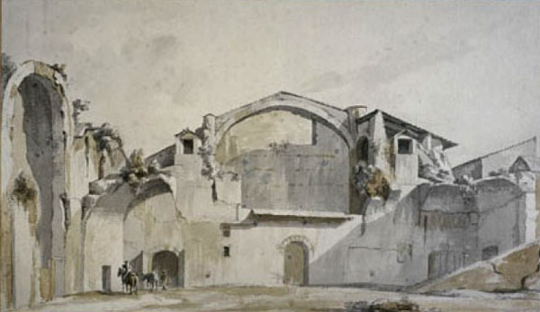 William Pars,Thermes de Dioclétien (environ 1780)